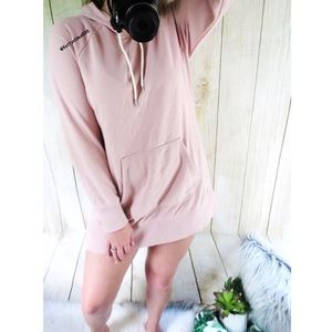 Champion blush mauve oversized tunic hoodie 🌷